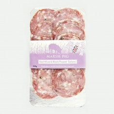 Marsh Pig, Red Wine & Thyme Salami Sliced